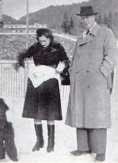 Chanel in Lausanne in 1949 with Baron von Dinklage.