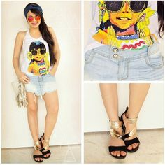Amor de look da @clarazebra  notem a sandália da coleção de verão que amor <3 <3 <3