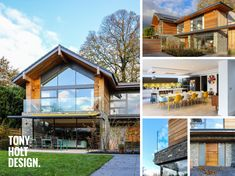 Tony Holt Design_Self Build_Collage Bungalow Exterior, Bungalow Renovation, Bungalow Extensions, House Extensions, House Designs Ireland, 1970s House, Home Exterior Makeover, Timber Frame Homes, New Builds