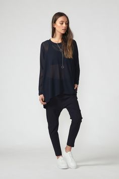 twilight top / ink by Moochi. Everyday luxury, from off-duty essentials to coveted designer pieces. Aw 2017, Off Duty, Twilight, Normcore, Ink, Stuff To Buy, Tops, Design, Style