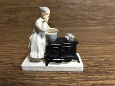 Sebastian Miniature-Sampling the Stew-American Life Display, Collectible, Vintage Kitchen Display Piece by GoldenGateBoutique on Etsy