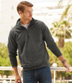 Fruit of the Loom Lightweight Zip Neck Sweatshirt