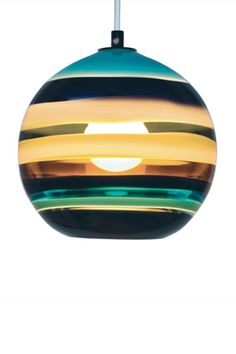 Caleb Siemon...aqua banded orb pendant..Love every colorway. Wish they were larger