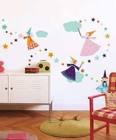 Take a look at this Nouvelles Images Fairy Wall Decal Set by Nouvelles Images on #zulily today!