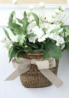 Summer Door Basket DIY   Love of Home