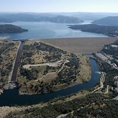 Oroville Dam - Is a rockfill embankment dam on the Feather River east of the city of Oroville, Butte, California in the United States. At 770 feet (230 m) high, it is the tallest dam in the U.S. as of 2012, and serves mainly for water supply, hydroelectricity generation and flood control.