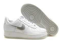 O4I3nNG Men Air Force 1 25th Low Shoes White Silver Canada Outlet