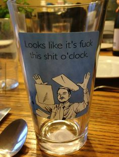 Frustrated Glass Tells Time