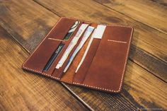 Mens Leather Accessories, Travel Accessories, Handmade Leather Wallet, Long Wallet, Leather Men, Men's Leather