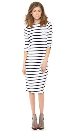 Stripes - Perfect for that Summer/Fall Transition | Shopbop.com ElevenParis Basic Dress