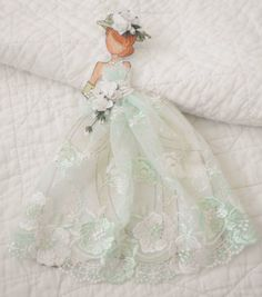 Prima Doll Stamps - Handmade Stunning Prima Embroider Lace Princess Dress Paper Doll by Becky Prima Paper Dolls, Prima Doll Stamps, Scrapbook Paper Flowers, Fun Crafts, Paper Crafts, Wedding Doll, Prima Marketing, Soft Sculpture, Wedding Paper