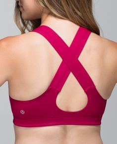 We designed this bra to take us through yoga class, beach volleyball, soccer practice and everything in between. The thick straps are supportive and streamlined, and the crossback keyhole design fits invisibly under racerback tanks. The sturdy fabric keeps our girls locked and loaded so we're ready for anything.
