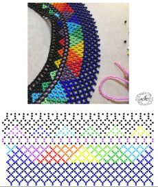 Diy Necklace Patterns, Bead Loom Patterns, Beaded Jewelry Patterns, Peyote Patterns, Weaving Patterns, Beading Techniques, Beading Tutorials, Seed Bead Jewelry, Bead Jewellery
