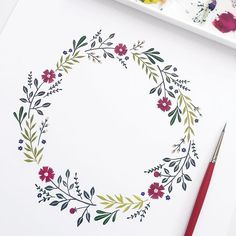 A floral wreath for a new (huge) project I'm working on!! Can't wait to share with you. Happy Thursday!