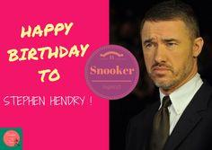 Snooker, my love: Happy birthday Stephen Hendry