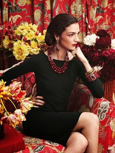 "'Why Don't You?"" ............Mariacarla Boscona as Diana Vreeland for the Neiman Marcus 2013 Christmas Book"