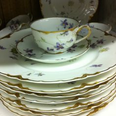 Antique Limoges China (produced in the Limoges region of France) c. late 1700's to 1930's