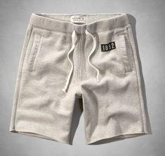 Abercrombie & Fitch Mens Fleece Sweat Shorts Light Gray
