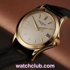 Patek Philippe Calatrava Yellow Gold - 'Patek Service History' REF: 5107J | Year Jun 2001 Our favourite self-winding Calatrava, and under Patek warranty until October 2015. At 37mm, we think this 18ct yellow gold ref.5107 is the perfect classic gentleman's wristwatch. A broad polished bezel and curved crown guards complement the elegant ivory dial with classic applied yellow gold batons and dauphine hands - for sale at Watch Club, 28 Old Bond Street, Mayfair, London