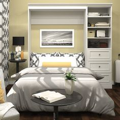 <strong>Bestar</strong> Versatile Full Storage Wall Bed
