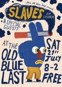 Slaves EP Launch poster by Liam Barrett.