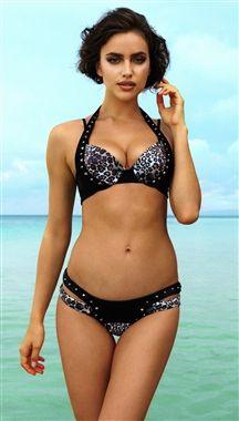Beach Bunny Swimwear Tough Love Cheetah Push Up Bikini