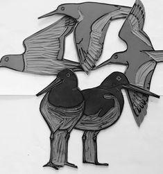 A few more oystercatchers... My little flock is growing daily . . . . ...#linocut #printmaking #blockprinting reliefprinting #lino #oystercatcher #seabird #cornwallart #cornwallwildlife  #wildlifeart #birdart #birdartist #wildbird #artiststudio  #inthestudio #art  #illustration #collage  #mixedmedia #wildlife#naturalworld  #animaartist  #mixedmedia #contemporaryprintmaking  #wildlifeartist  #humananimalrelationship