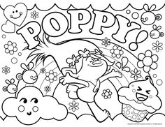 7 Best Coloring Pages Treasure Trolls Images Coloring Pages
