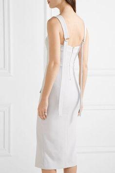 Rebecca Vallance - Billie Bow-embellished Stretch-crepe Dress - Blue