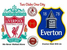 Everton and Liverpool
