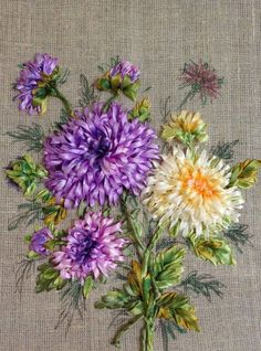 Such a beautiful ribbon embroi