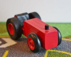 Jouet ferme rouge tracteur tracteur de ferme jouet par McCoyToys