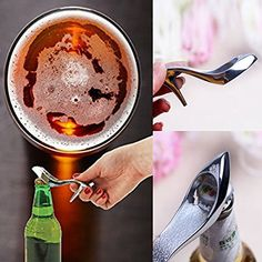 Wine Bottle Opener, Beer Lovers, Sewing Stores, Wedding Favors, High Heels, Stainless Steel, Amazon, Creative, Pink