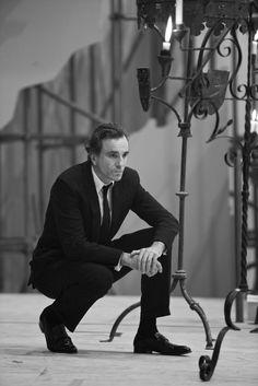 Daniel Day-Lewis on the set of Nine, 2009
