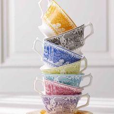 """""""Love these, but can't remember where I found this picture! Has anyone seen them around? #teacups #rituals #tea #cuppa #inthemoment #wherecanifindthem"""""""