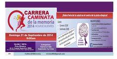 Carrera Caminata de la memoria 2014 #Aguascalientes el 21 de septiembre del 2014 por el #Aizhemer Revista 400 septiembre 2014
