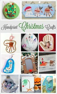 Handprint Christmas Crafts for Kids: Handprint reindeer, Santa, snowmen, ornaments, and more- adorable keepsakes for the holidays!
