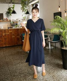 K-Daily(MT) Ulzzang KimSoyoung dress style 2017 Korean Fashion Trends, Korean Street Fashion, Korea Fashion, Fashion 101, Daily Fashion, Korean Dress, Korean Outfits, Simple Dresses, Casual Dresses