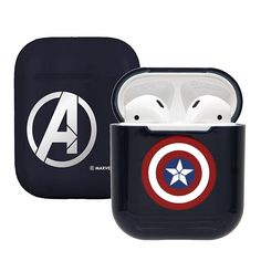 Marvel Avengers Captain America Airpod Casing Iphone Airpods Accessories (Red/Blue) Noted: Case only. Airpod is not included Marvel licensed Marvel Avengers, Marvel Cartoons, Apple Airpods 2, Marvel Universe, Earphone Case, Cool Iphone Cases, Black Panther Marvel, Air Pods, Airpod Case