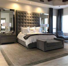Cozy bedroom, master bedroom design, bedroom sets, bedroom inspo, budget be Small Master Bedroom, Master Bedroom Design, Home Decor Bedroom, Master Bedrooms, Master Suite, Bedroom Curtains, Bedroom Designs, Bedroom Art, Bedroom Headboards