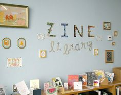 Zine Library and Display of Zines