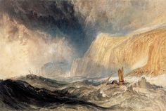 Turner, A Shipwreck off Hastings, 1825 watercolour