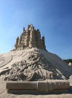castelos de areia |  Esculturas da areia - areia por ellebasi