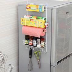 Kitchen Nevera Side Shelf Rack Sidewall Multipurpose Shelf Crack Storage Rack Multi-layer Holder Refrigerator Estante Fridge