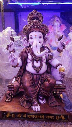 Shri Ganesh Images, Ganesh Chaturthi Images, Ganesha Pictures, Ganesh Idol, Ganesha Art, Clay Ganesha, Ganpati Bappa Wallpapers, Cute Panda Cartoon, Durga Ji