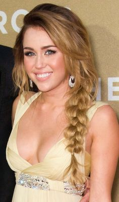 Miley Cyrus side braid