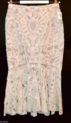 £4650 ALEXANDER MCQUEEN Crochet-embroidered silk-organza skirt IT40 UK8 New Find cool summer skirts at my online store: http://www.stores.ebay.com/dressredress Don't forget to follow it! I list new items every weekend!! And shipping is always free!!!