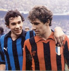 Legends - A tale of rivalry between two brothers : Giuseppe 'Beppe' Baresi (Inter Milan, left) vs Franco Baresi (AC Milan, right)