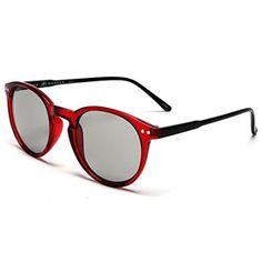 SAMBA SHADES Liz And Rick Round Sunglasses Brown Tortoise | amazon ...