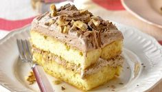 Chocolate and Hazelnut Slice, 10 Delicious Chocolate Dessert Recipes - Always in Trend Greek Sweets, Greek Desserts, Healthy Desserts, Easy Desserts, Layered Desserts, Sweet Recipes, Cake Recipes, Dessert Recipes, Dessert Ideas